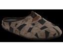 Zapatillas de estar por casa esquimal marron claro y oscuro abierta