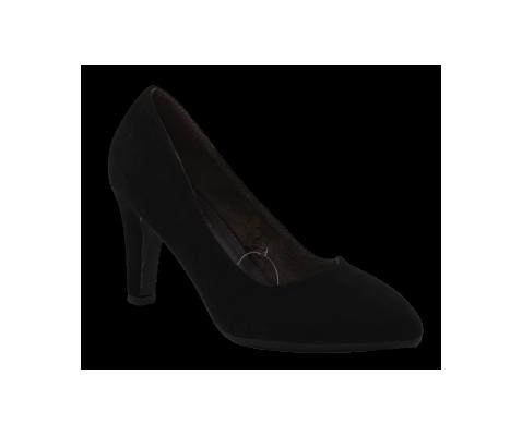Zapato de salon tacon medio negro