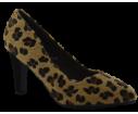Zapato de salon tacon medio leopardo