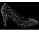 Zapato de salon tacon medio serpiente
