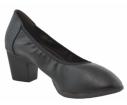 Zapato de salón elástico negro