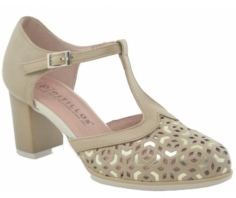 Zapato de salón Pitillos Volga crema - Pitillos