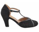 Zapato salón picado negro