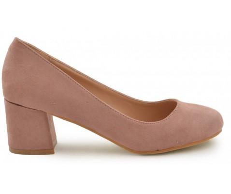 Zapato de salón punta redondeada nude