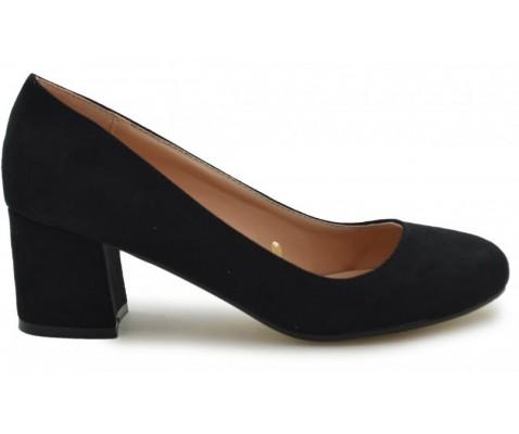 Zapato de salón punta redondeada negro