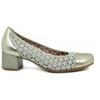 Zapato salón piel tacón bajo Pitillos 5541 oro - Pitillos