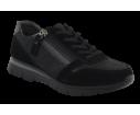 Zapatilla deportiva negra cremallera