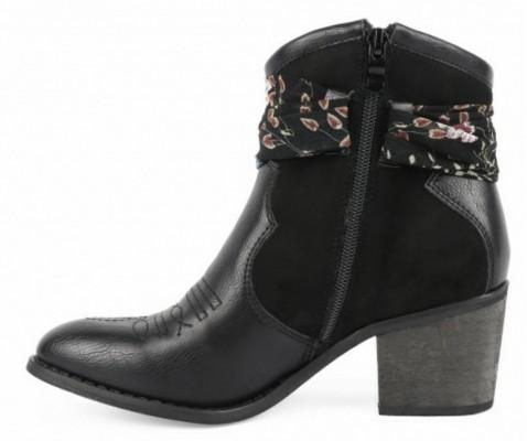 Bota cowboy Chika10 Lily 02 negro - Chika10