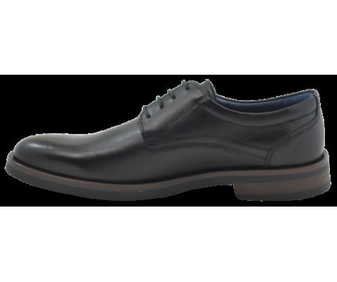 Zapato piel caballero filo castaño