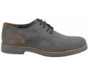 Zapato oxford vestir piel gris