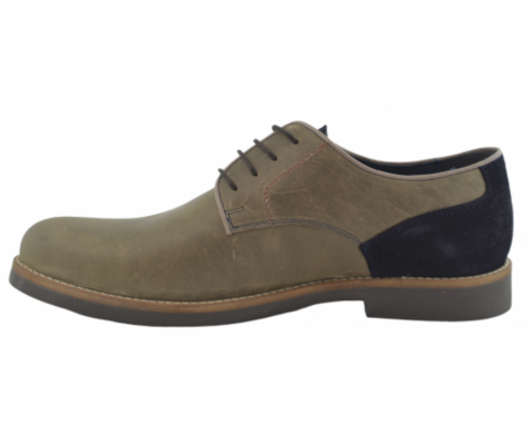Zapato oxford vestir piel caqui