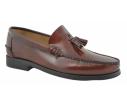 Zapatos castellanos marca Benavente piel borlas piso suela piel cuero