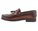 Zapatos castellanos marca Benavente borlas piso goma cuero