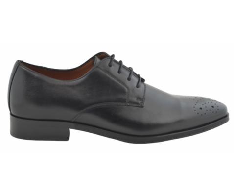 Zapato oxford de vestir piel troquelado negro