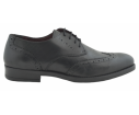 Zapato de vestir oxford cordones picado negro - Benavente