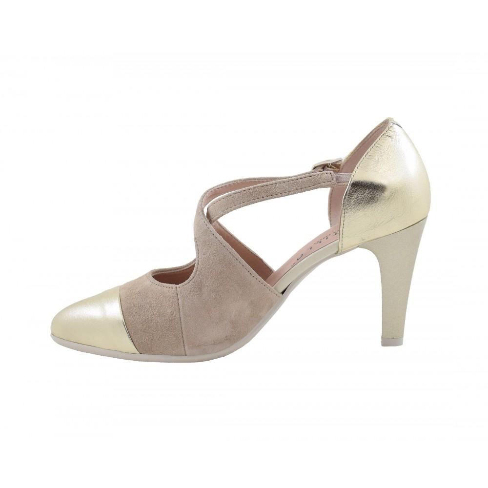 Zapato Calzados Salón De 1103 Pitillos Tacón Mujer Medio Para Oro qqHCTw