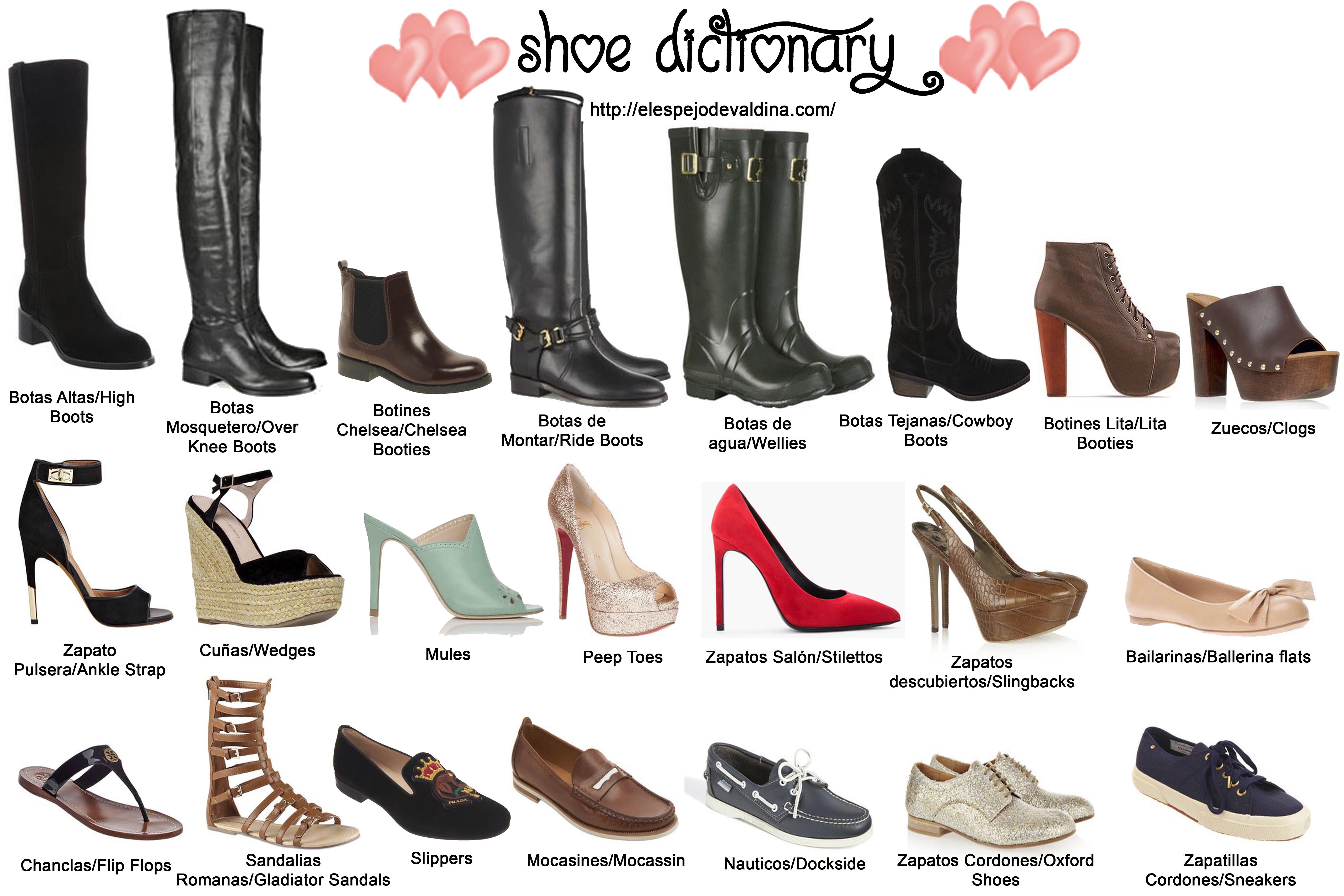 e72f296b8 Diccionario de la moda calzado II • Calzados Benavente