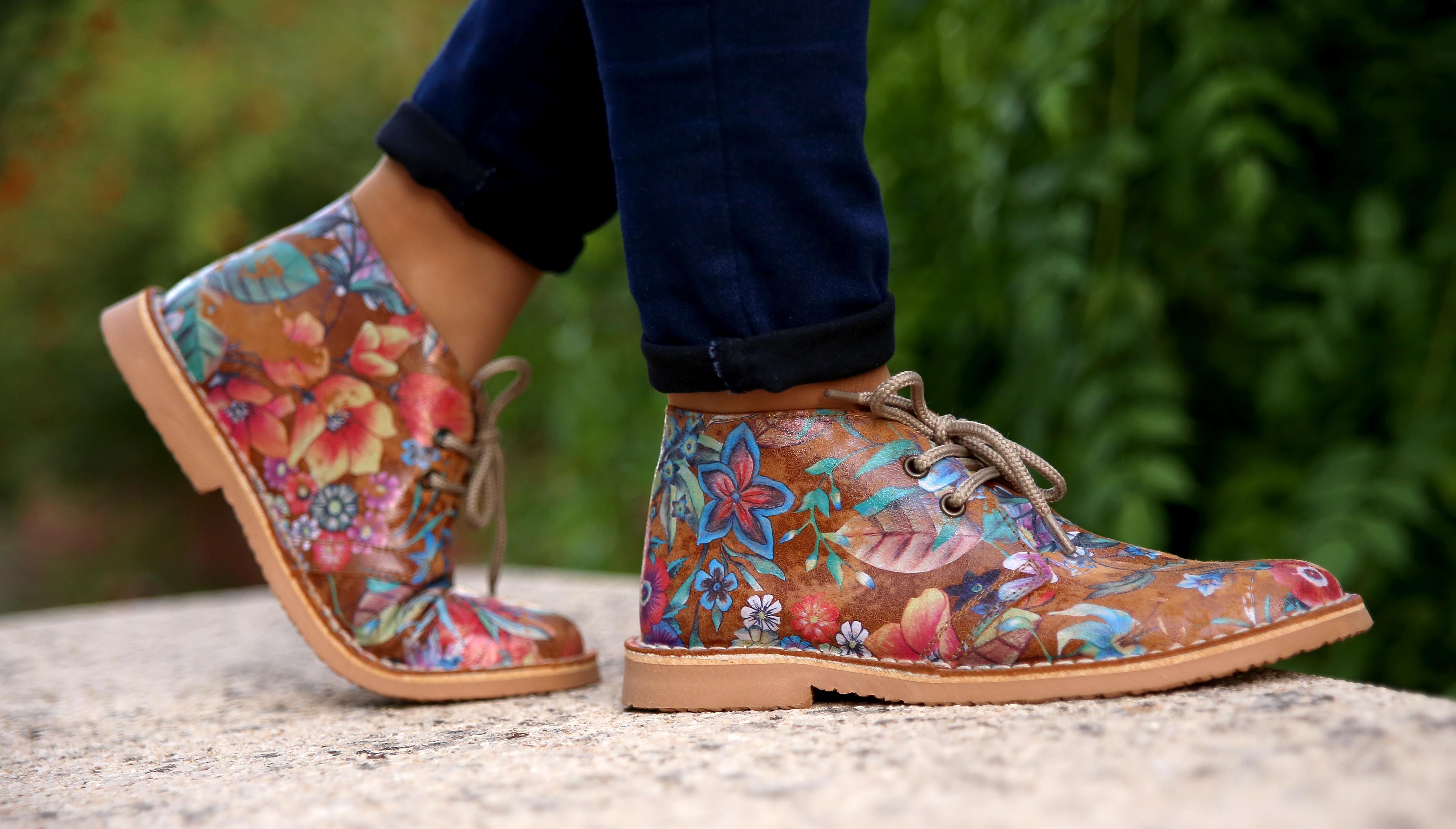 botines-flores
