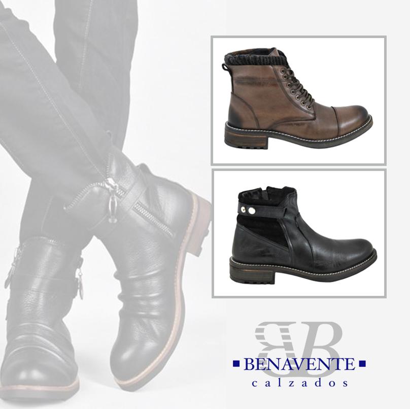 80b2b36f2bb Para chicos más clásicos: botas de piel de cordones en color café y bota  con suela de tacos en tonos tierras.