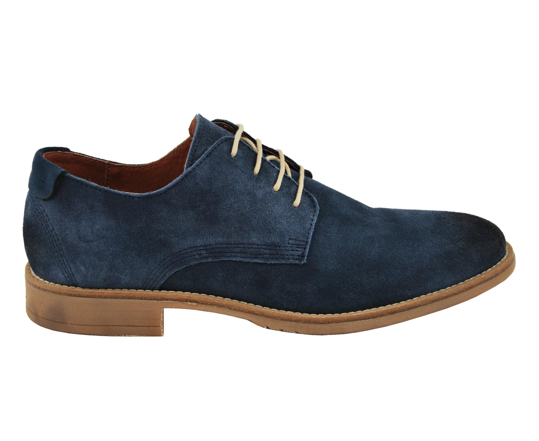 Zapato para hombre de piel serraje